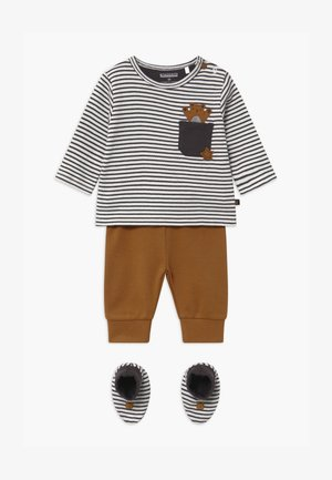 SET - Broek - light brown/grey/white