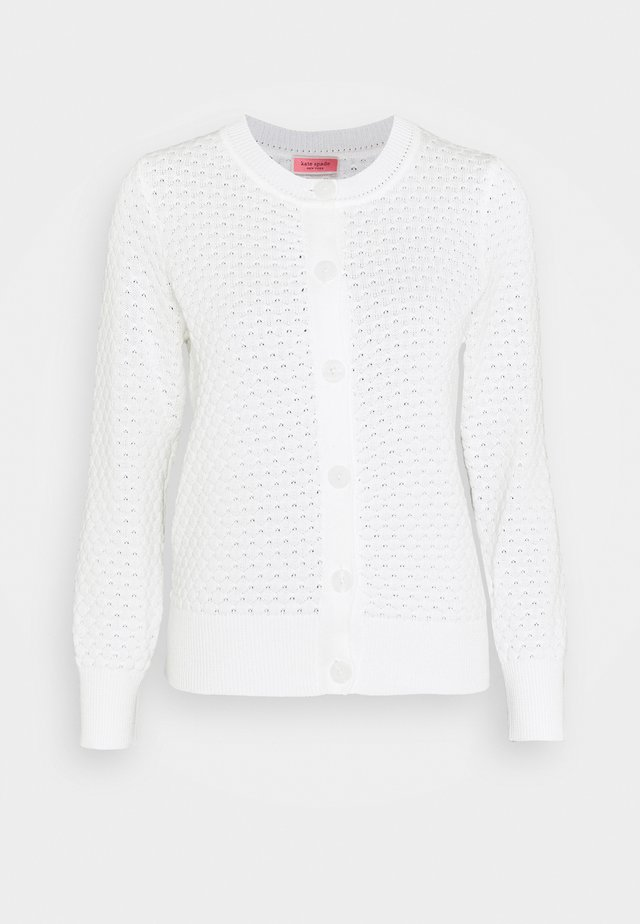 TEXTURED  - Cardigan - fresh white