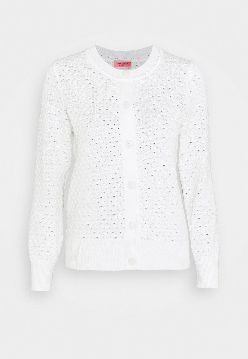 kate spade new york - TEXTURED  - Chaqueta de punto - fresh white
