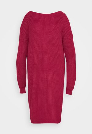 OPEN BACK INSERT DRESS - Jumper dress - raspberry