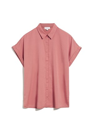 Button-down blouse - cinnamon rose