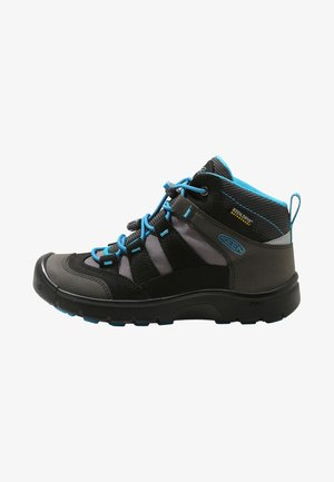 HIKEPORT MID - Hiking shoes - black /blue jewel
