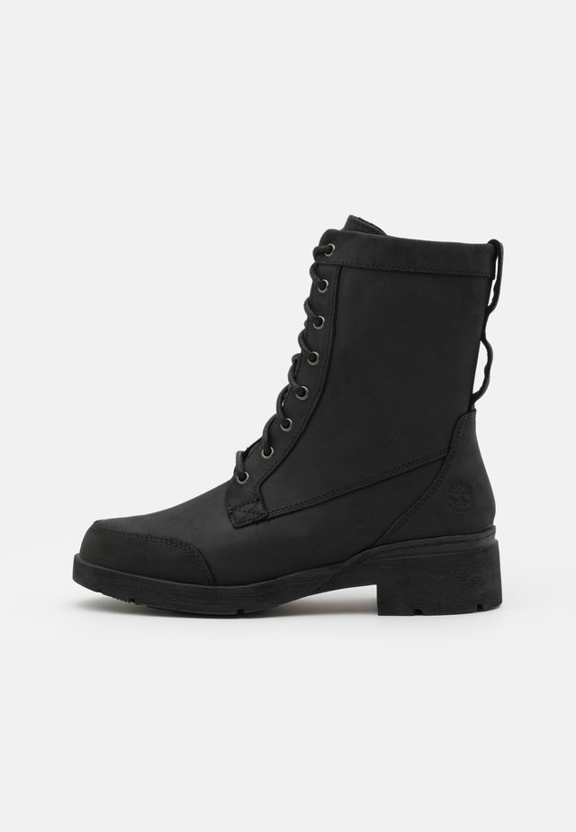 GRACEYN MID LACE UP WP - Snörstövletter - black