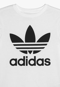 adidas Originals - TREFOIL - Print T-shirt - white/black - 3
