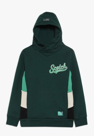 HOODY WITH CONTRAST CUT AND SEWN SIDE PANEL  - Hoodie - bottle green