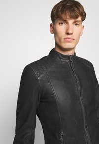 Tigha - TOMAS STONE - Leather jacket - vintage black - 3