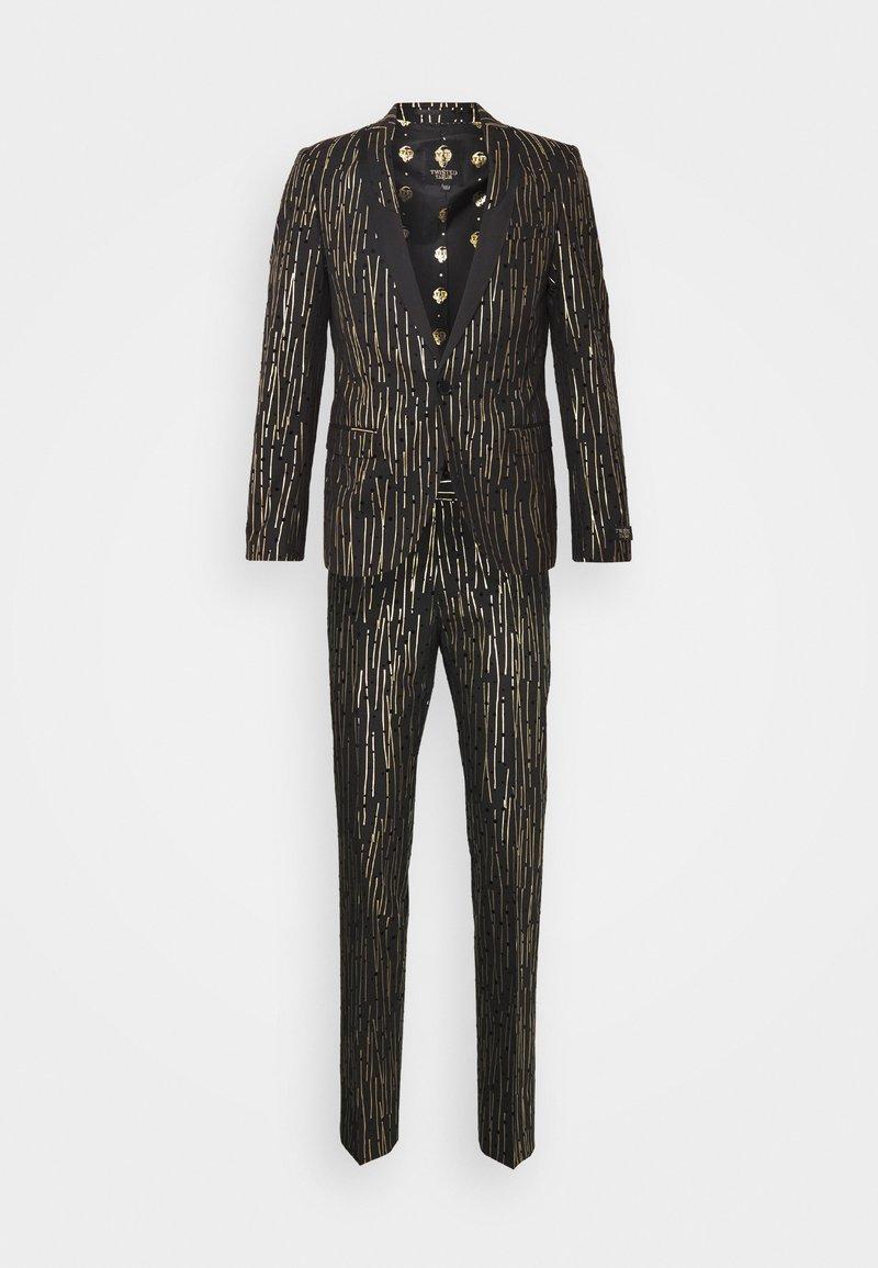 Twisted Tailor - SAGRADA SUIT - Garnitur - black/gold