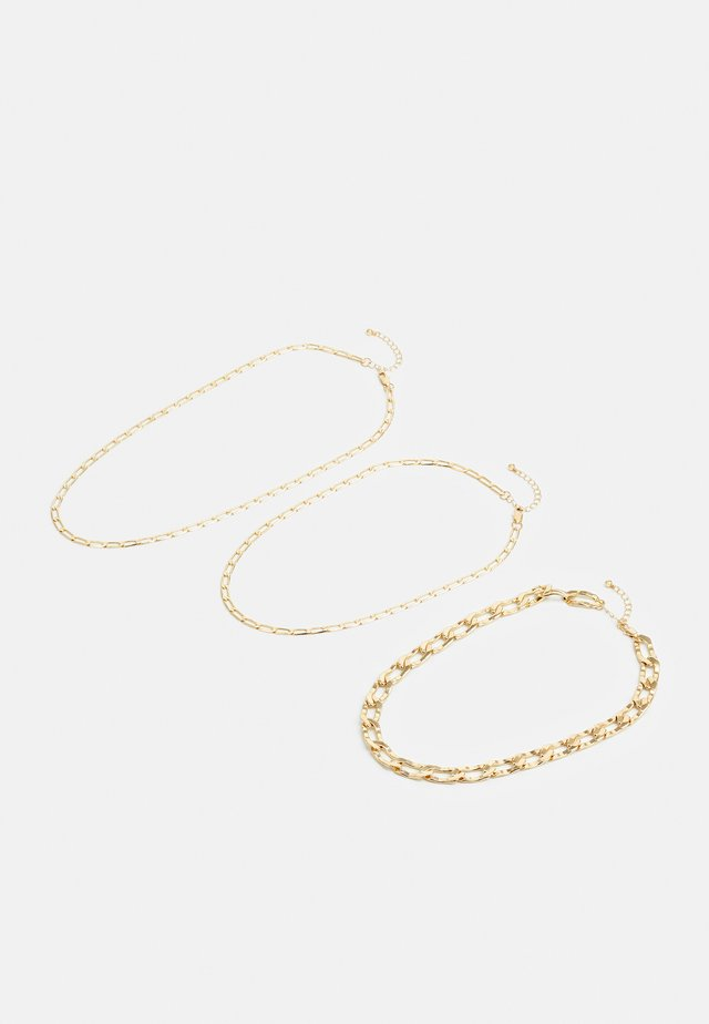 PCJANIELLE NECKLACE 3 PACK - Collier - gold-coloured