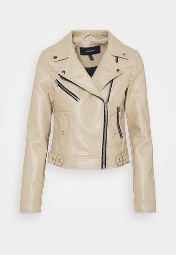 VMHOPE COATED JACKET - Faux leather jacket - beige