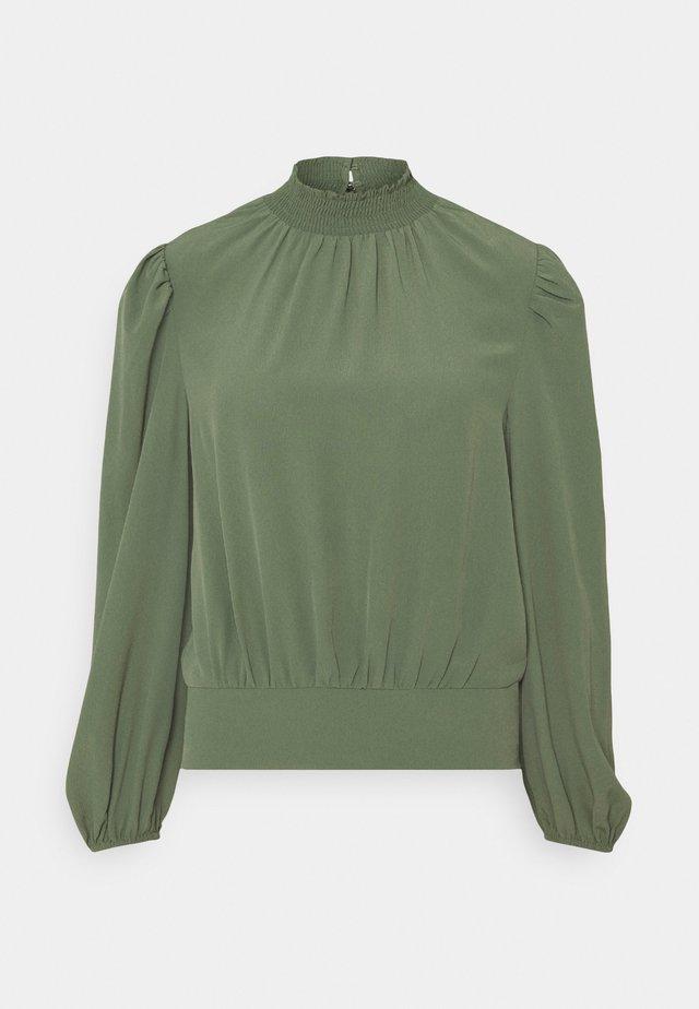 BALLOON SLEEVE - Long sleeved top - khaki