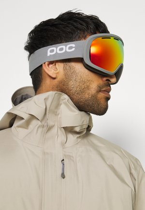 FOVEA CLARITY UNISEX - Masque de ski - pegasi grey/spektris orange