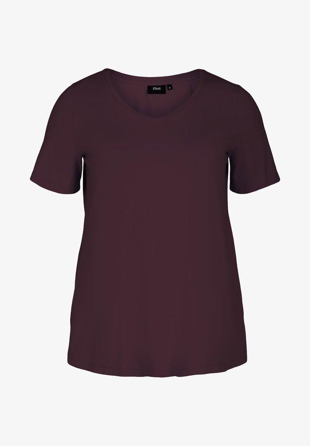 T-shirt - bas - dark bordeaux