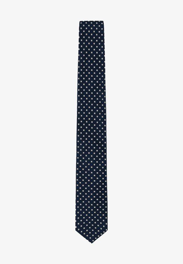 Tie - navy/ivory
