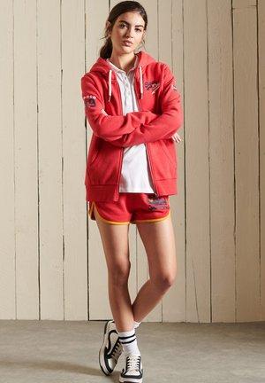 VINTAGE LOGO - Zip-up sweatshirt - papaya red marl