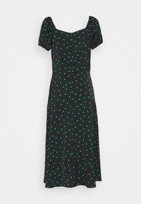 Even&Odd Tall - PUFF SLEEVE MIDI DRESS - Maxi dress - black/green - 1