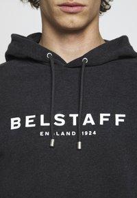 Belstaff - Hoodie - dark charoal melange/off white - 5