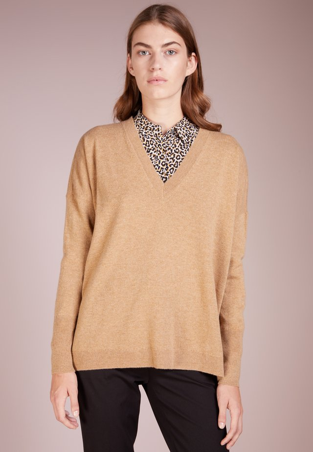 ROSAYLN CASHMERE SWEATER - Pullover - heather camel