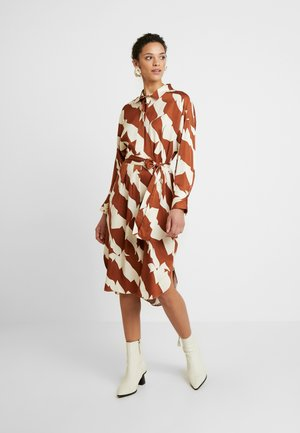 DISTANCE DRESS - Shirt dress - tortoise shell