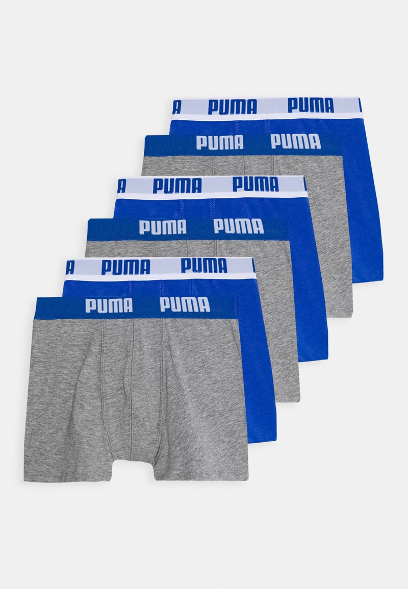 Puma - BOYS BASIC BOXER 6 PACK - Onderbroeken - blue/grey