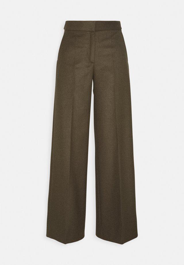 Trousers - teak melange