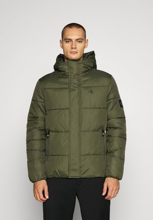 HOODED PUFFER JACKET - Vinterjacka - deep depths