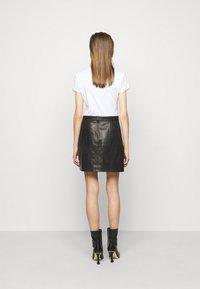 Iro - SKIRT - Kožená sukně - black - 2