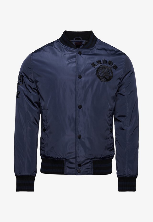 BLAMORE COLLEGIATE - Bomber Jacket - dark navy