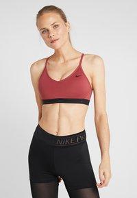 Nike Performance - INDY BRA - Sports bra - cedar/black - 0