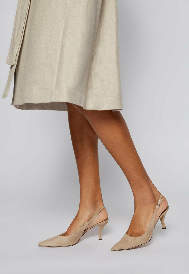 BOSS - Slingback ballet pumps - beige