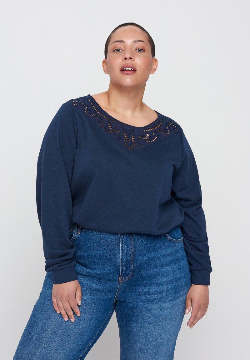 Zizzi - Sweatshirt - blue