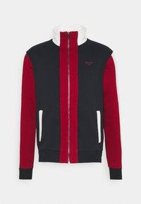 Zip-up sweatshirt - ink/red/bone