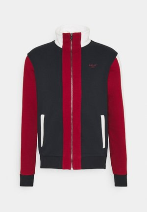 Zip-up hoodie - ink/red/bone