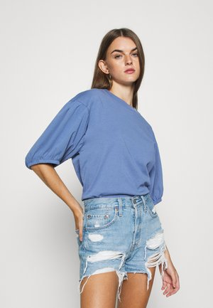 PEONY PUFF SLEEVE - Basic T-shirt - colony blue