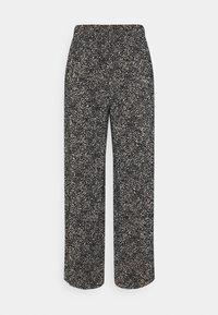ONLY - ONLTAMMIE PLISSE PANT - Bukser - black/white - 1