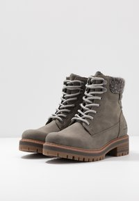 TOM TAILOR - Lace-up ankle boots - mud - 4