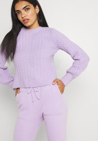 Missguided - TEXTURED JUMPER AND JOGGER SET - Jumper - lilac - 3