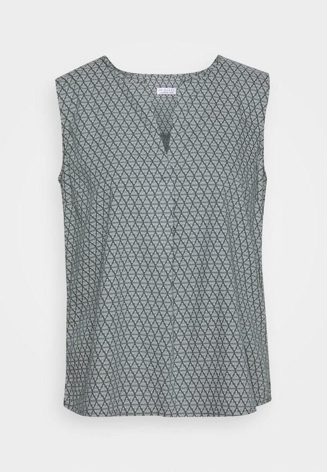 PRINTED - Bluzka - olive khaki