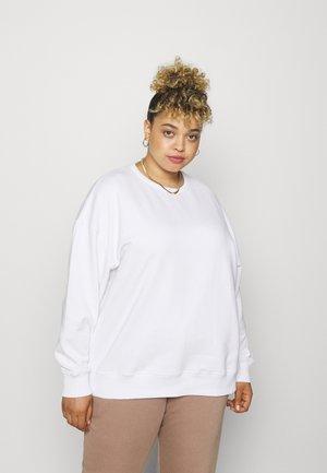 SUSTAINABLY DRIVEN TAPE - Sweatshirt - white