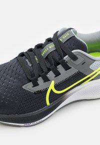 Nike Performance - AIR ZOOM PEGASUS 38 UNISEX - Competition running shoes - dark smoke grey/volt/smoke grey/light smoke grey - 5