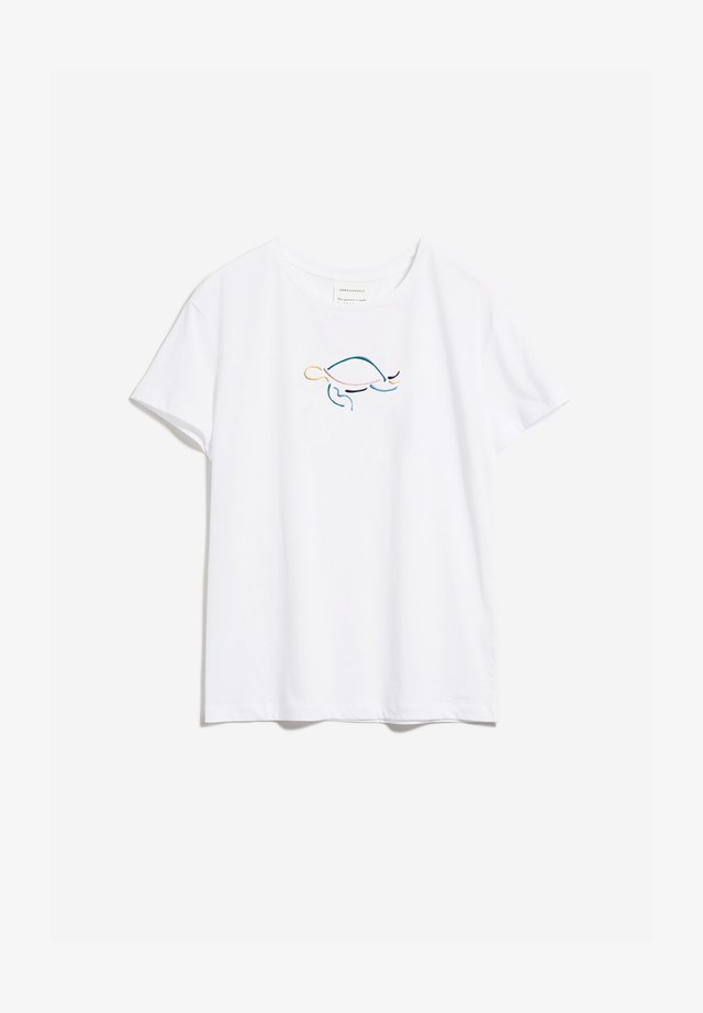 NELAA TURTLE - T-shirt print - white
