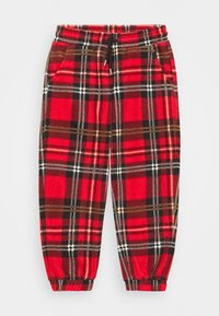 Mini Rodini - BABY CHECK TROUSERS UNISEX - Stoffhose - red - 0