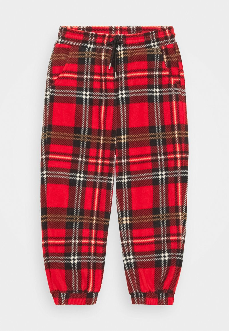 Mini Rodini - BABY CHECK TROUSERS UNISEX - Stoffhose - red