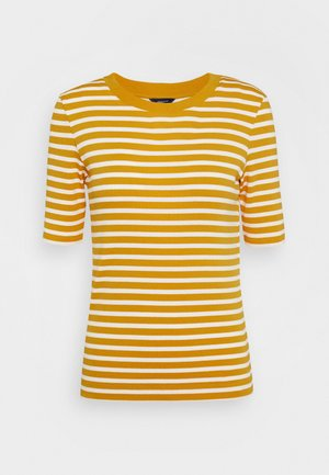 STRIPED - Print T-shirt - ivy gold