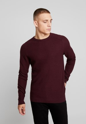 HONEYCOMB - Neule - bordeaux red