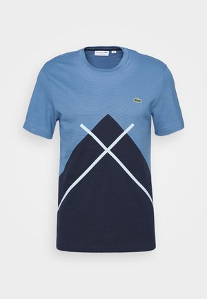 Print T-shirt - navy blue/king breeze