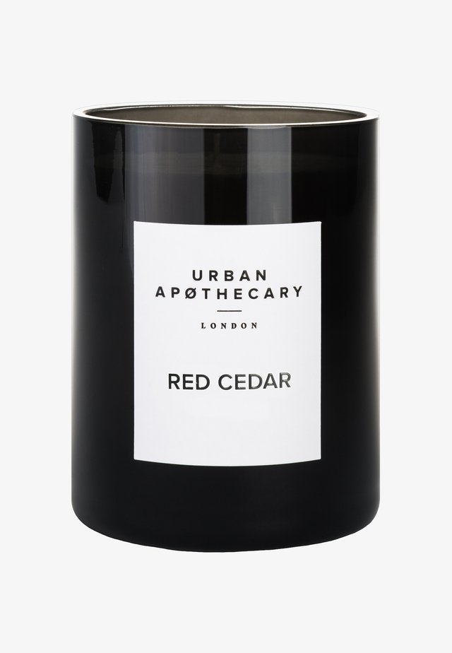 LUXURY BOXED GLASS CANDLE - Scented candle - red cedar