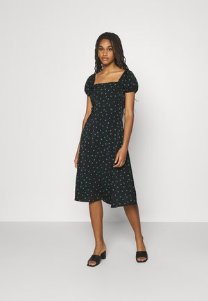 Day dress - black/green