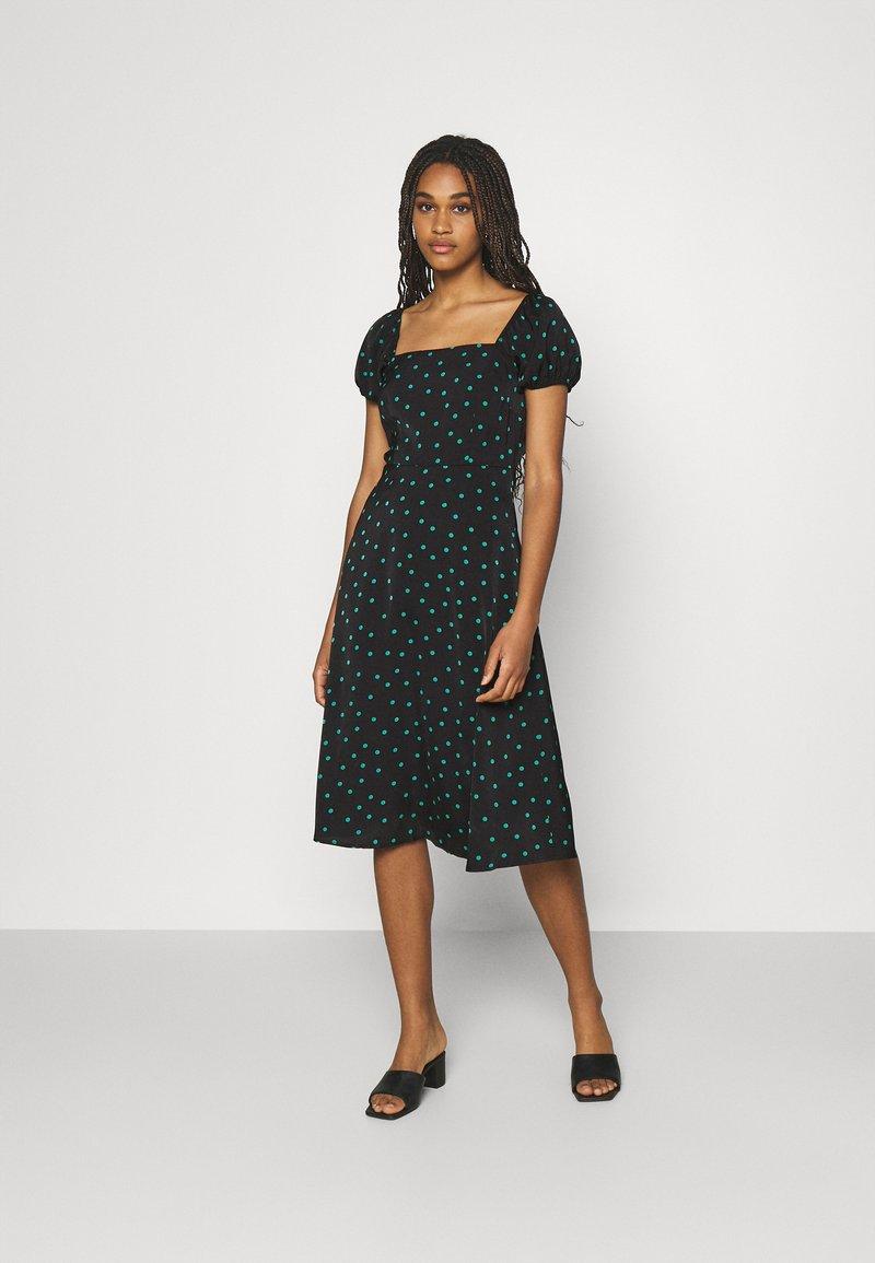 Even&Odd - Day dress - black/green