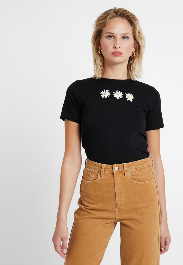 New Look - DAISY TEE - T-shirt imprimé - black