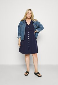Anna Field Curvy - Shirt dress - dark blue - 1